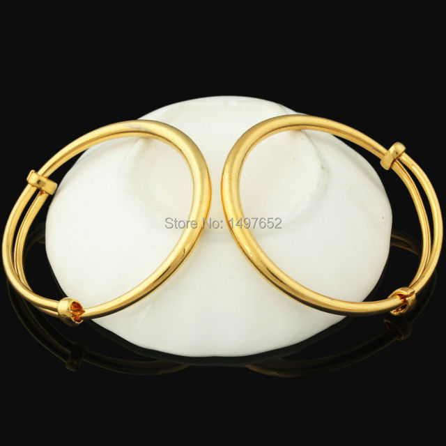 Fashion Dubai Gold Baby Bangle Jewelry For Boys Girls18K Gold Color