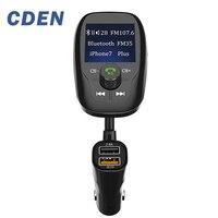Беспроводной 3.0 Быстрая зарядка в автомобиль Bluetooth fm-передатчик Радио автомобильный адаптер Комплект MP3-плееры Hands-Free с ЖК-дисплей дисплей ...
