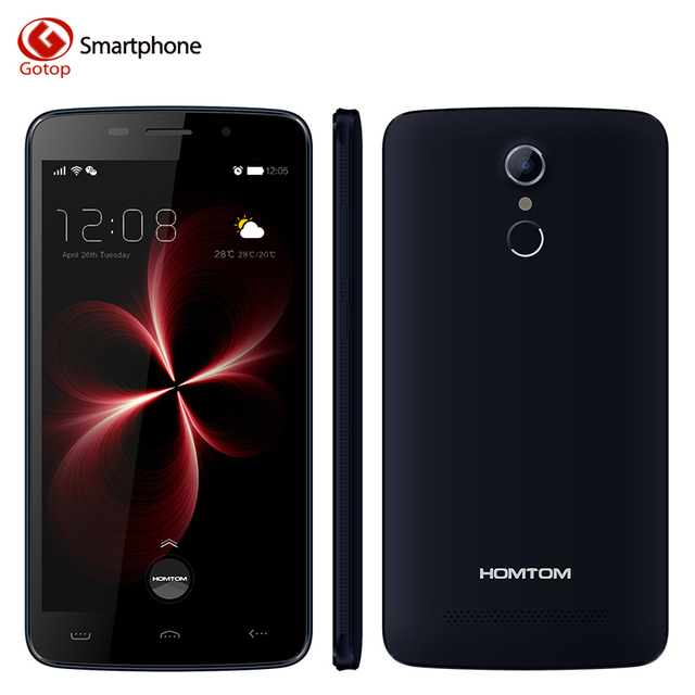 Original Homtom HT17 Pro Smartphone 5.5 Inch Android 6.0 MT6737 Quad Core Mobile Phone 2GB RAM 16GB ROM Unlocked LTE Cell Phone