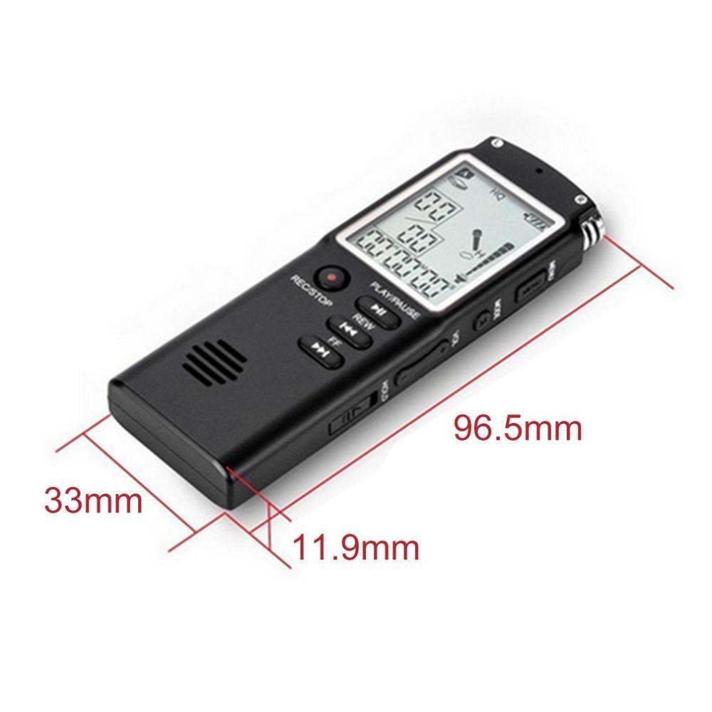 T60 8G 16G 32G Mini stylo d'enregistrement de téléphone USB professionnel 96 heures Dictaphone enregistreur Audio numérique avec WAV, lecteur MP3