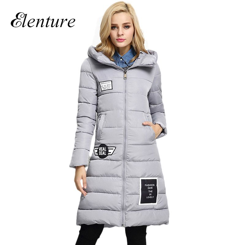 ФОТО Fashion New Brand Womens Winter Coat Casual Hooded Womens Long Parkas Woman Coat And Jackets Female Outwear
