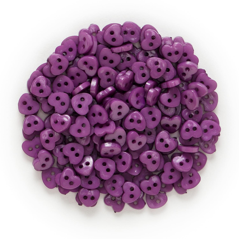 6 мм 100 шт многоцветные одноцветные дополнительные 2 отверстия мини сердце смолы кнопки для шитья скрапбукинга декоративные открытки для рукоделия - Цвет: Purple