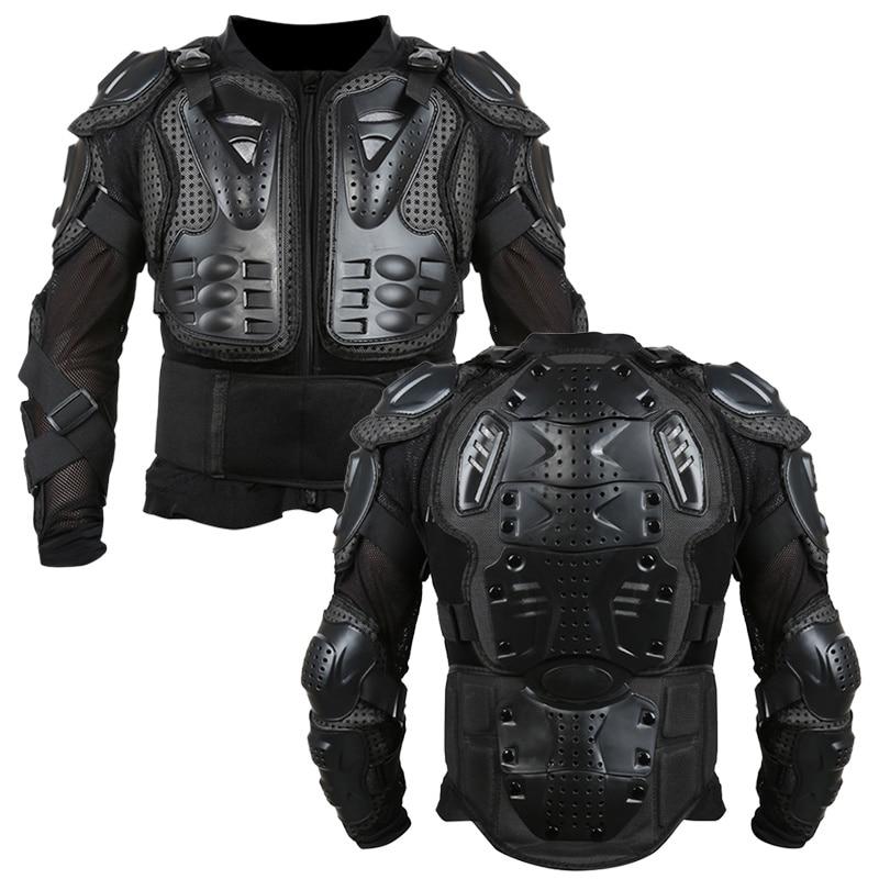 Volle Körper Motorrad Rüstung Jacke Motocross Rüstung Weste Brust Getriebe Teile Schutzhülle Schulter Hand Joint Schutz Zubehör Klar Und Unverwechselbar