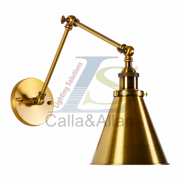 US 4040 40% OFFRetro Brass Finish Swing Arm Wall Lamp For Bedroom Bedside Adjustable Wall Mounted Swing Arm Wall Sconce Wall Lamp Light Fixturein Stunning Bedroom Swing Arm Wall Sconces