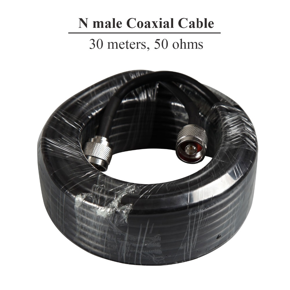 Signal Boosters Coaxial Cable 50ohms High Quality 30m Long Cable N Male To N Male 30 Meters For External Antenna Outdoor Use S40
