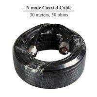 Wzmacniacze sygnału kabel koncentryczny 50 omów wysokiej jakości 30 m długi kabel N męski na męski męski 30 metrów do zewnętrznego antena użytku na zewnątrz S40 w Wzmacniacze sygnału od Telefony komórkowe i telekomunikacja na