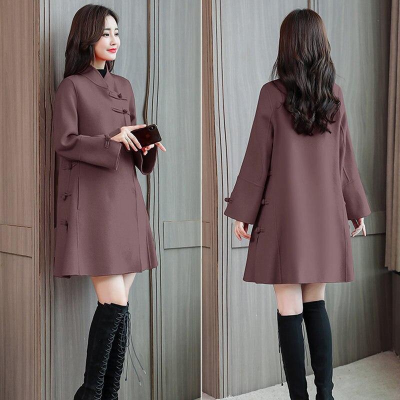 Hiver La Section Manteau kaqi Femmes 2018 red Taille Boucle Autumnd Laine Chinois Lq365 Longue Style Femelle Plus green Rétro Dousha Nouvelle De pqqBgxZnX