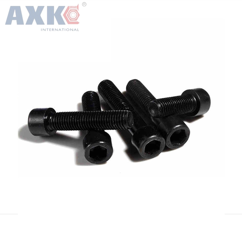 sourcing map Computer PC Graphics Card Fully Threaded Knurled Thumb Screws Black M3x8mm 10pcs