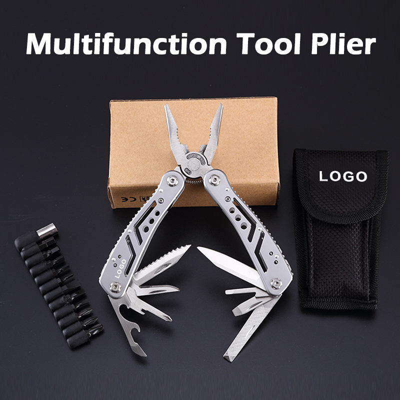 All in One Pocket Multifunction Plier Tool Hand Tool Screwdriver Kit Portable Stainless Multitool fold Folding Pliers Knife