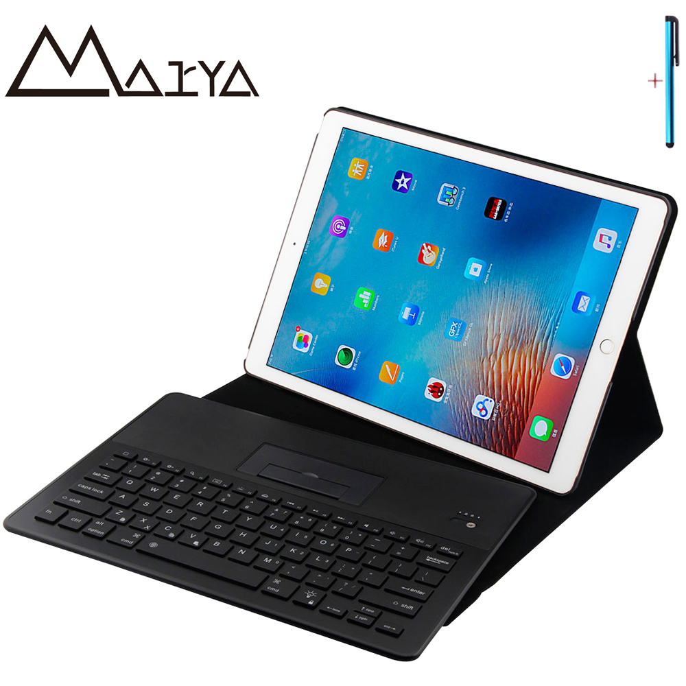 Keyboard For iPad Pro 12.9 Tablet Case Thin Flip Stand Removable Wireless Bluetooth Aluminum PU Leather For iPad Pro 12.9 Cover цена и фото