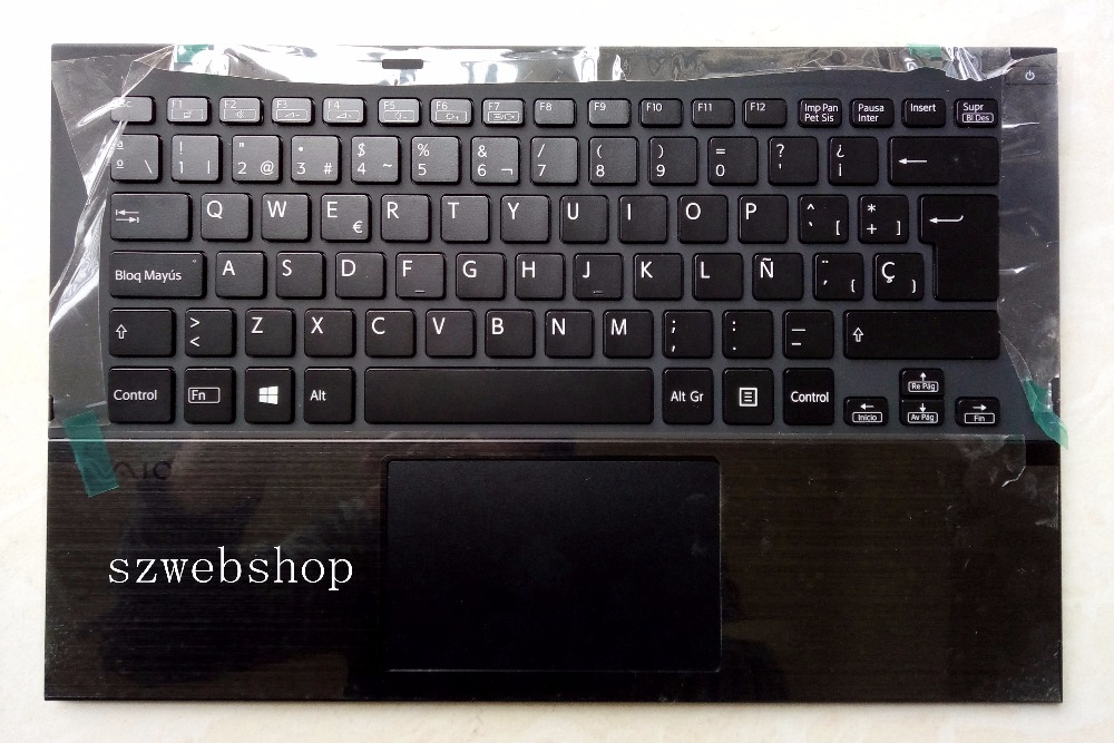New for sony vaio pro13 SVP13 SVP132 SVP132A16L SVP132A1CL SVP13A1CW SVP132A17T spain keyboard bcaklit plamrest touchpad blackNew for sony vaio pro13 SVP13 SVP132 SVP132A16L SVP132A1CL SVP13A1CW SVP132A17T spain keyboard bcaklit plamrest touchpad black
