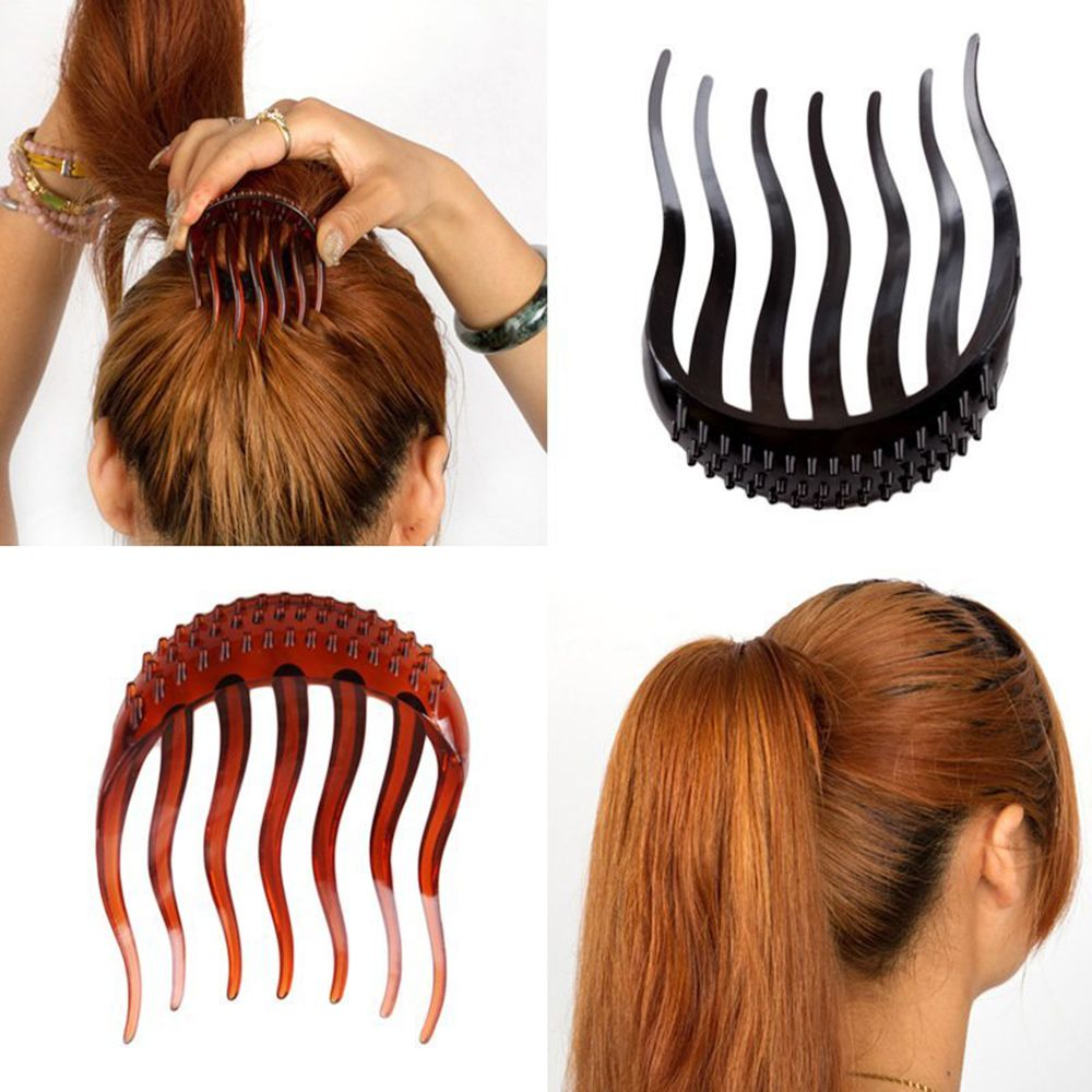 1pc Female Horsetail Combs Volume Inserts Hair Clip Bouffant Ponytail Maker Braid Tool Hair Comb Headwear Hair Styling Tool