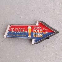 Retro Drink Cold Beer LED Metal Neon Sign Bar Pub Club Wall Hanging Light Signboard Tavern Home Decor Signage Iron Signs A909
