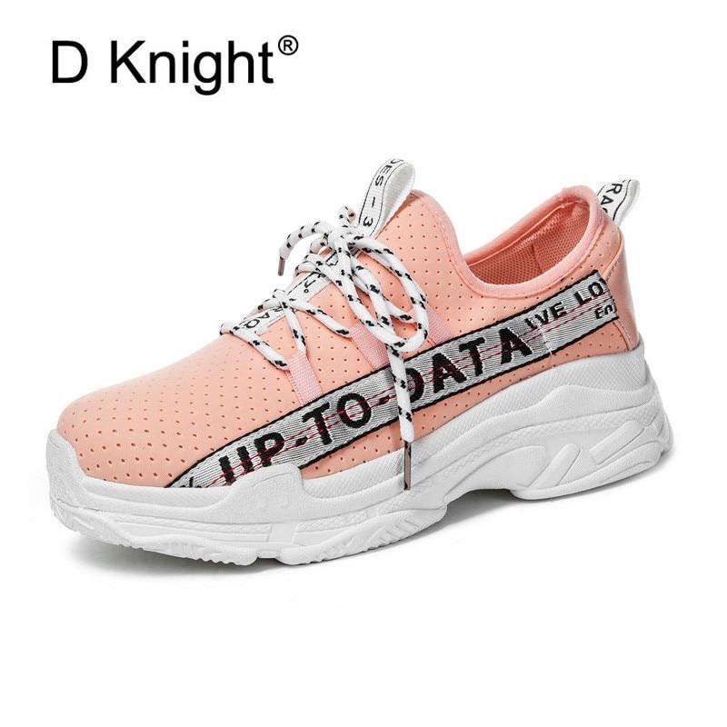 Fashion Korean Women Sneakers Lace Up Platform Shoes Tenis Feminino Casual Shoes Outdoor Walking Shoes Sneakers Women Flats Pink цена