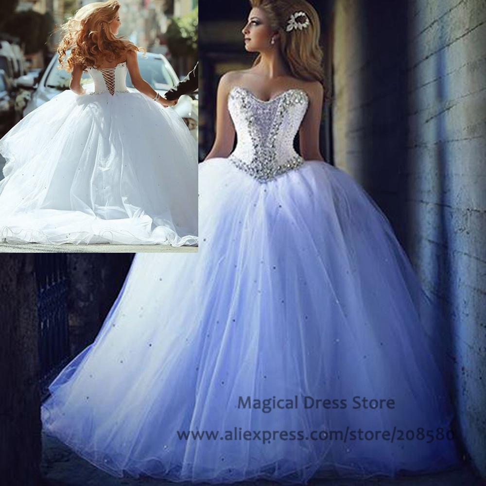 Popular Ball Gown Wedding Dresses with Bling and Corset-Buy Cheap ...