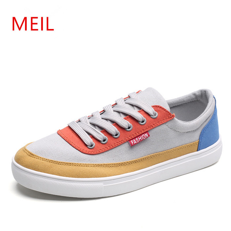 MEIL 2018 new Mens casual shoes man flats breathable Mens outdoor shoes Mens canvas Shoes for Men Zapatos hombre цена