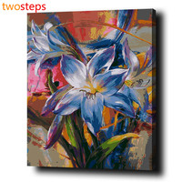 Frameless DIY Digital Canvas Oil Painting By Numbers Pictures Coloring By Numbers Acrylic Paint By Number
