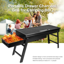 Portable Drawer Charcoal Grill for Camping BBQ Separate detachable folding BBQ Grill Easily Cleaned #3 недорого
