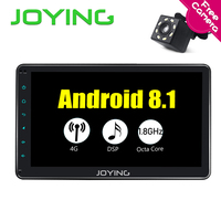 Joying 10.1 Android 8.1 single Din In Dash Radio Car Video Receiver Player with Bluetooth Wifi GPS Navigation support carplay