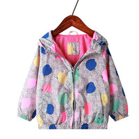 New 2019 spring baby girl clothes child kid jackets out wear baby girls point double deck jackets