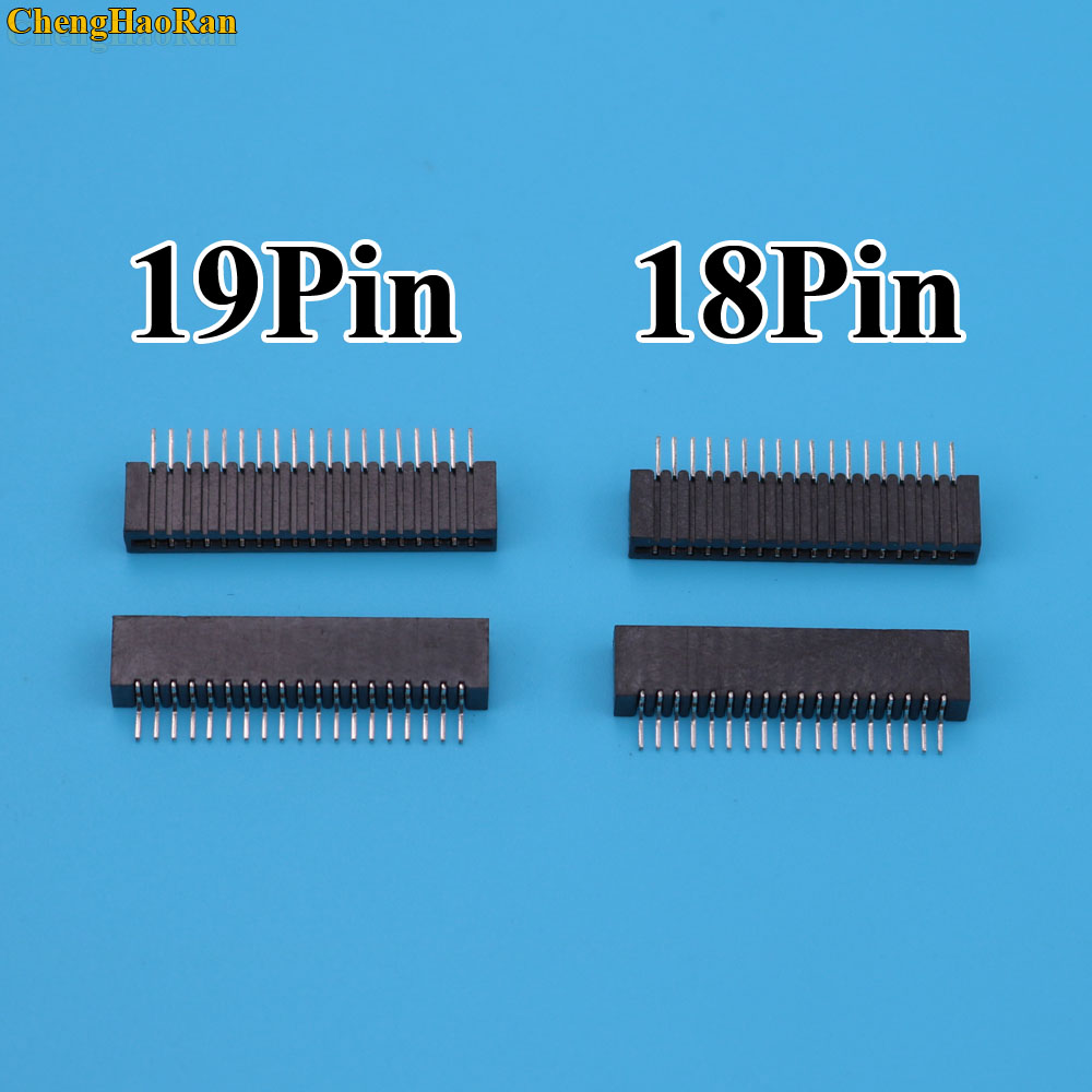 ChengHaoRan 100pcs Flex Ribbon Cable Connect Port Conductive Film Socket 18pin Connector For Playstation 2 PS2-in Replacement Parts & Accessories from Consumer Electronics