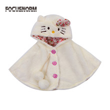 Cute Newborn Baby Kids Girls Winter Sleeveless Fur Hooded Coat Cloak Jacket Thick Warm Outwear Snowsuit(China)