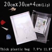 100pcs 20cmx30cm 4cm Crystal Clear Resealable Opp Cello Cellophane Bags