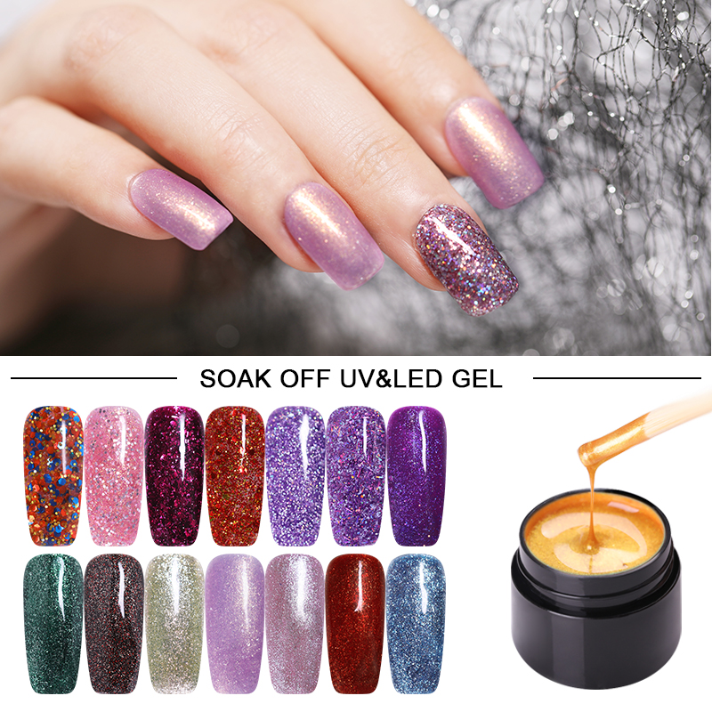LEMOOC 5ml UV Gel 2019 New Arrival Nail Art Tips 180 Pure Nail Color Manicure Soak Off DIY Paint Gel Ink UV Gel Nail Polish in Nail Gel from Beauty Health