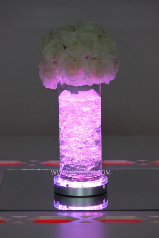 Frozen Party Decoration Wireless Remote Control LED Ligh Base For Vase Up Lighting, Wedding Centerpiece Decor lighting