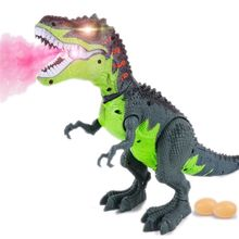 Premium New Simulated Flame Spray Tyrannosaurus Dinosaur Toy Kids Walking Dinosaur Water Spray Red Light & Realistic Sounds remote control tyrannosaurus velociraptor giganotosaurus rugops rc walking dinosaur toy with shaking head light sounds
