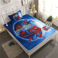 Disney Spiderman Bedding Sets Twin Size Bedspread Coverlets for Kids Boys Bedroom Decoration pillow case Blue Color 3D Children