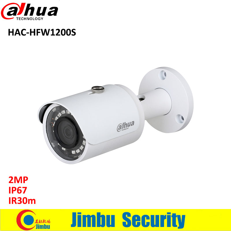 Dahua 2MP HDCVI camera CCTV 1080P Water-proof IP67 HAC-HFW1200S Bullet Camera lens 3.6mm IR LEDs length 30m mini security camera 2016 dahua hac hfw2220e 2 4m 1080p ip67 water proof hdcvi ir bullet camera english firmware 2016 hot sale free shipping