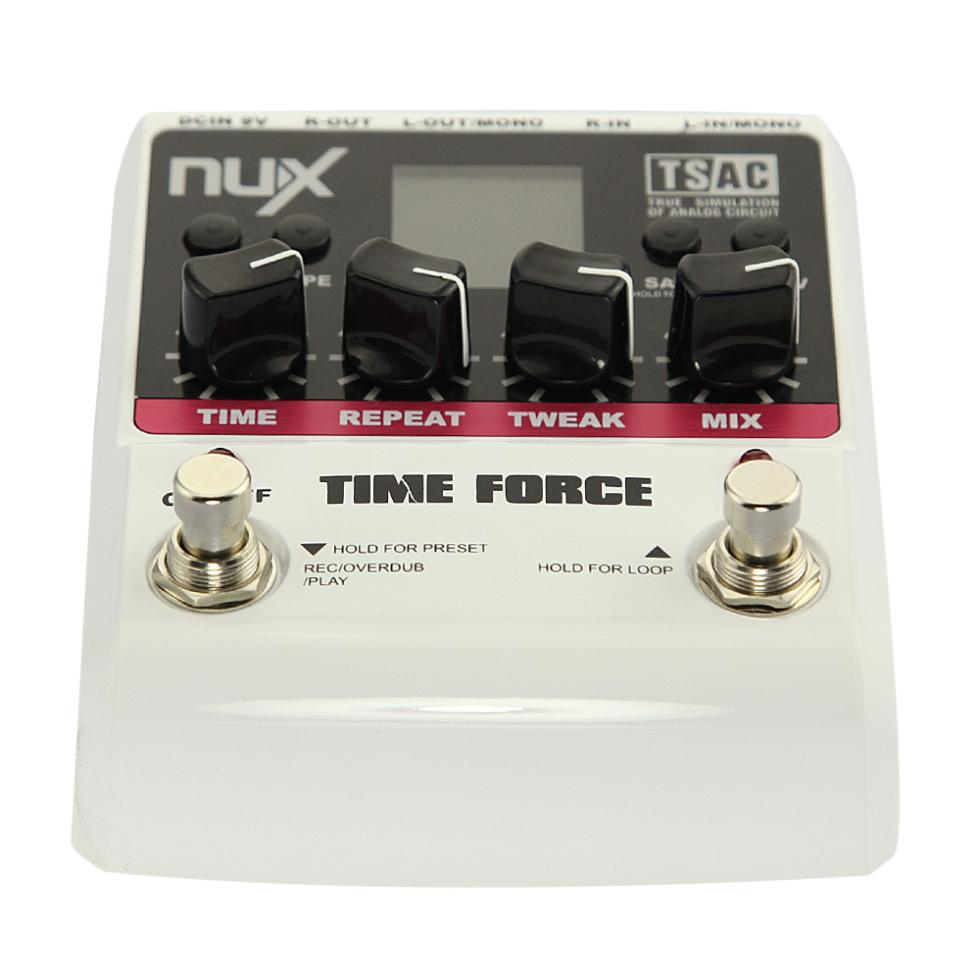 NUX TIME FORCE Electric Guitar Effects Pedal Multi Digital 11 Delay Effects Guitarra Effectors Parts& Accessories nux 1 8 lcd time force delay guitar effect pedal white black