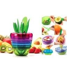 10-в-1 новый дизайн, многофункциональный семейный набор с салатницей и вилками, Lomon, инструмент для приготовления яблока, соломки, авокадо