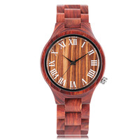 2018 New Nature Wood Women's Watch Novel Simple Creative Wristwatch Casual Full Wooden Bamboo Red Sandalwood Men Watches relogio