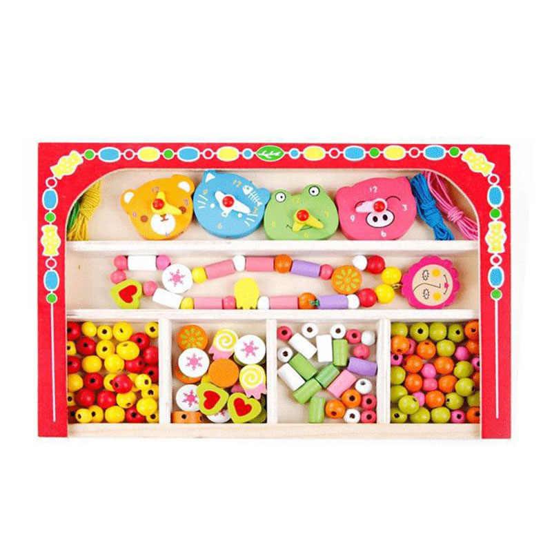 Мультфильм Карамельный Цвет DIY браслет носить Бусины дети Игрушечные лошадки для детей геометрический персонализированные головоломки Развивающие игрушки