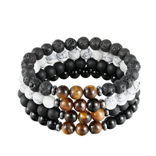 LIVVY Volcano stone bracelet stone wash black pearl bracelet cat 's eye stone bracelet natural balance men and women jewelry 8in1 cat stain and odor exterminator nm jfc s