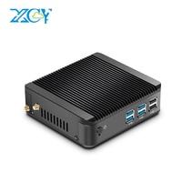 XCY Mini PC Intel Celeron 3755U Pentium 3805U Windows 10 4GB RAM 120GB SSD 300M WiFi HDMI HTPC Fanless Ultra Compact Desktop PC