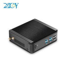 XCY Mini PC Intel Celeron 3755U Pentium 3805U Windows 10 4GB RAM 120GB SSD for HTPC Officework Fanless Ultra Energy Saving
