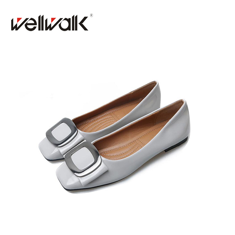 2018 Lady shoes women fashion Ballerinas casual ballet flat comfortable square toe slip on buckle Flat shoes new arrival minika new arrival 2017 casual shoes women multicolor optional comfortable women flat shoes fashion patchwork platform shoes