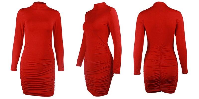 turtleneck ruched dress05