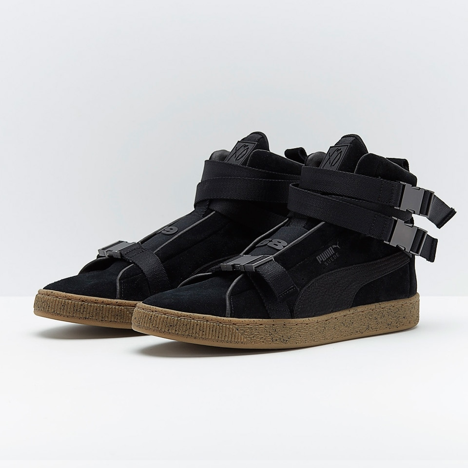 Puma Suede X The Weeknd Skateboarding Shoe High-top Flat Trainer Buckle  Strap Black Leisure c513e84e0