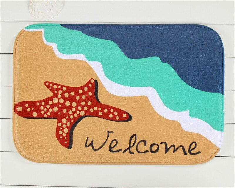 40cmx60cm Custom Starfish Beach Printed Rectangular Carpet Living Room  Dining Room Kitchen Anti Skid Foot Mat. Online Get Cheap Starfish Bathroom Decor  Aliexpress com   Alibaba