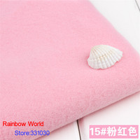 15 Light Pink 1 Meter One Side Brushed Imitation Woolen Garment Fabric For DIY Colthes Overcoat