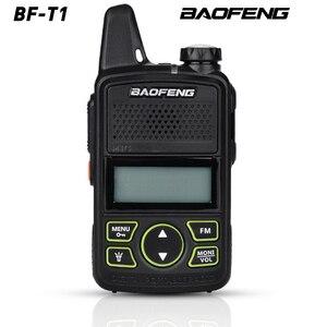 Image 1 - Gorąca sprzedaż Mini ultra cienki mini przedni BF T1 walkie talkie UHF 400 470MHz nadajnik FM dla hotelu odkryty cywilny