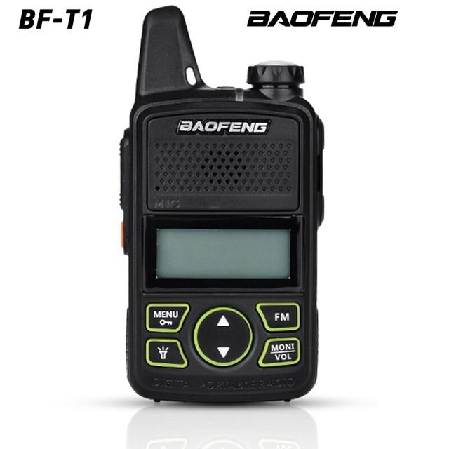 Gorąca sprzedaż Mini ultra cienki mini przedni BF T1 walkie talkie UHF 400 470MHz nadajnik FM dla hotelu odkryty cywilny