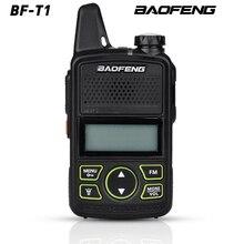 Heißer Verkauf Mini Ultra dünne Mini front BF T1 Walkie talkie UHF 400 470MHz FM Transceiver für Hotel Outdoor Zivilen