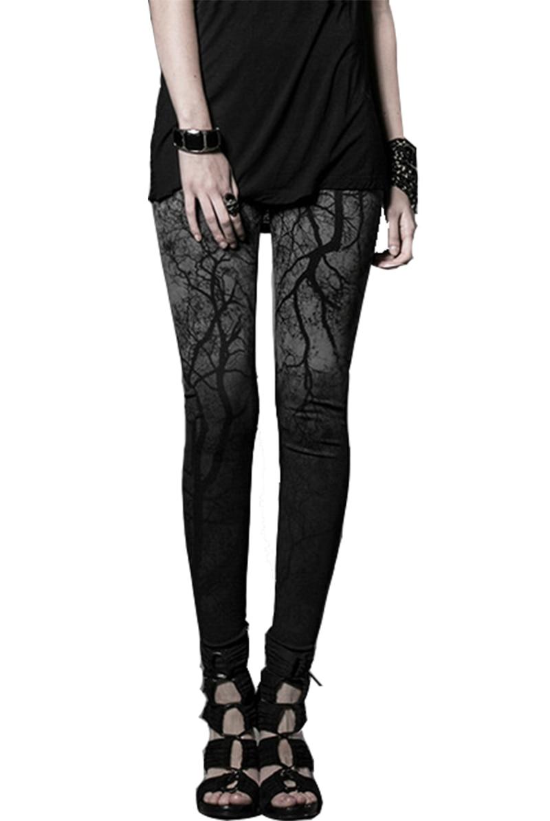 Pour Pantalon Arrivée Hip Hop Style Nouvelle Femme Motif Dip Teinture Branches Noir Punk Arbres Leggings Avec 6gy7Yfvb