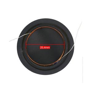 Image 3 - Promotion 12pcs 25.4mm Tweeter Voice Coil Silk Diaphragm Drive 25.5core KSV Treble Speaker Repair DIY 6ohm 8ohm 100pcs