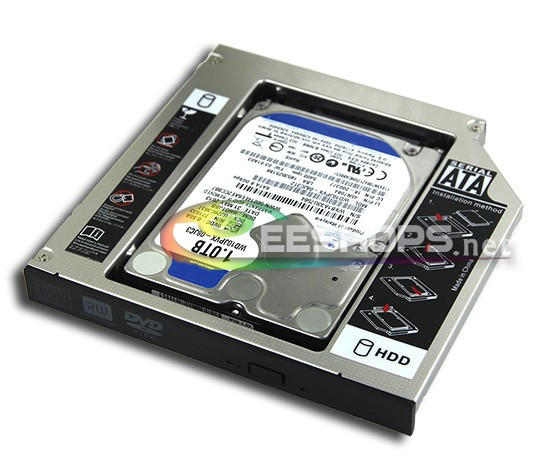 Notebook 2nd 1TB HDD SATA 3 Second Hard Disk DVD Optical Drive Bay Caddy for Acer Aspire 5552 5532 5536 5552G 5740G 5740 Case laptop internal 2nd 1tb 2 5 hdd second hard disk dvd optical drive bay caddy for dell inspiron 9300 1300 1440 1420 17200 case
